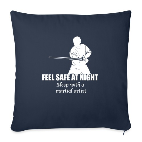 "Feel safe male LS - Throw Pillow Cover 18"" x 18"""