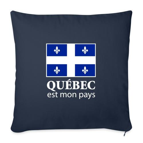 """Québec est mon pays - Throw Pillow Cover 17.5"""" x 17.5"""""""