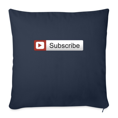 """YOUTUBE SUBSCRIBE - Throw Pillow Cover 18"""" x 18"""""""