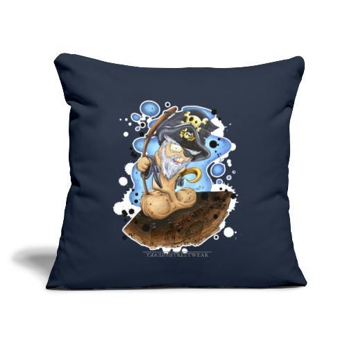 """captain cock - Throw Pillow Cover 18"""" x 18"""""""