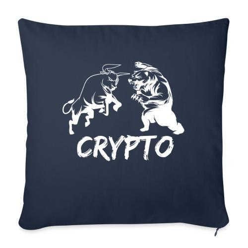 """CryptoBattle White - Throw Pillow Cover 18"""" x 18"""""""