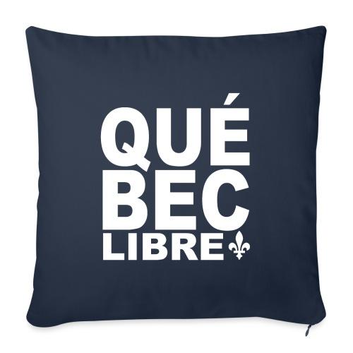 Québec libre - Housse de coussin décorative