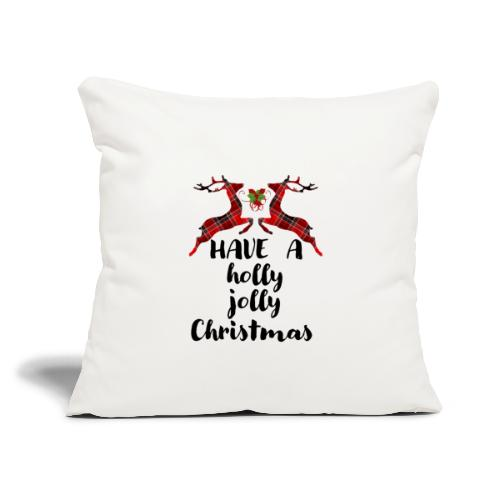 "Holly Jolly Christmas - Throw Pillow Cover 18"" x 18"""
