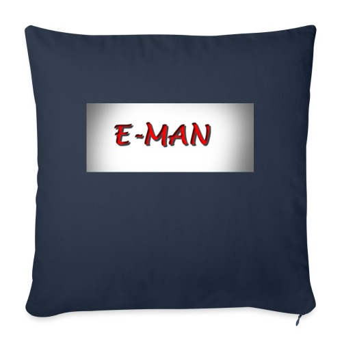 "E-MAN - Throw Pillow Cover 18"" x 18"""