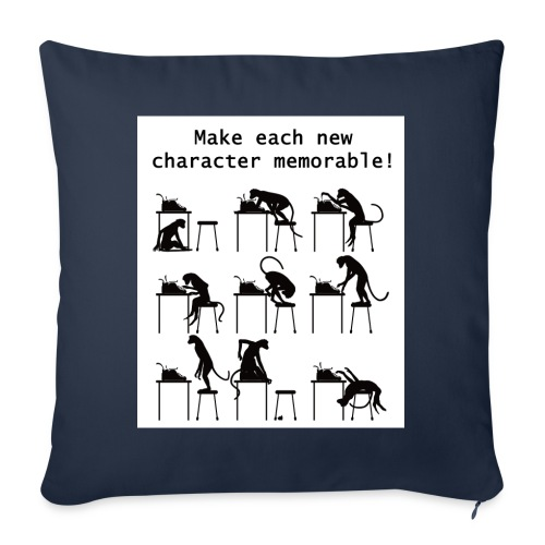 """Writer's Advice - Part 1 - Throw Pillow Cover 17.5"""" x 17.5"""""""