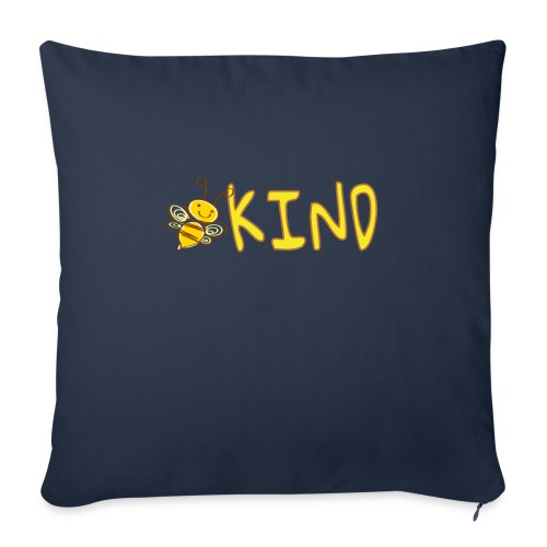 """Be Kind - Adorable bumble bee kind design - Throw Pillow Cover 18"""" x 18"""""""