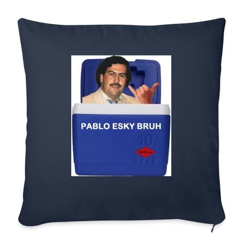 """Pablo Esky Bruh - Throw Pillow Cover 18"""" x 18"""""""