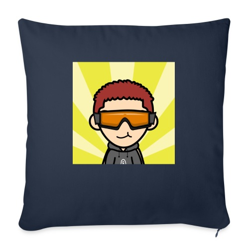 "Cartoon Beverly Avatar - Throw Pillow Cover 17.5"" x 17.5"""