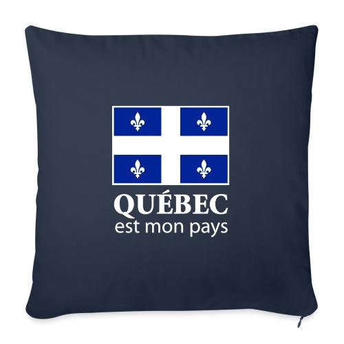 """Québec est mon pays - Throw Pillow Cover 18"""" x 18"""""""