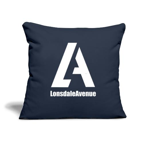 "Lonsdale Avenue Logo White Text - Throw Pillow Cover 17.5"" x 17.5"""
