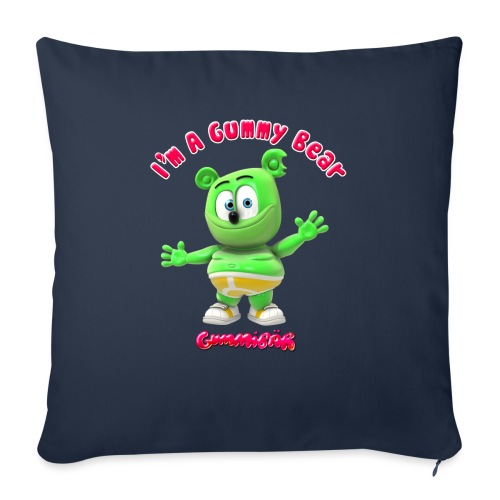"I'm A Gummy Bear - Throw Pillow Cover 17.5"" x 17.5"""