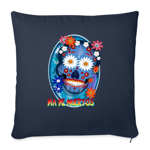 """Day Of The Dead. October 31 and leave on November - Throw Pillow Cover 17.5"""" x 17.5"""""""