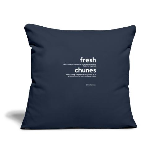 "Clothing for All Urban Occasions (Bk+Wt) - Throw Pillow Cover 17.5"" x 17.5"""