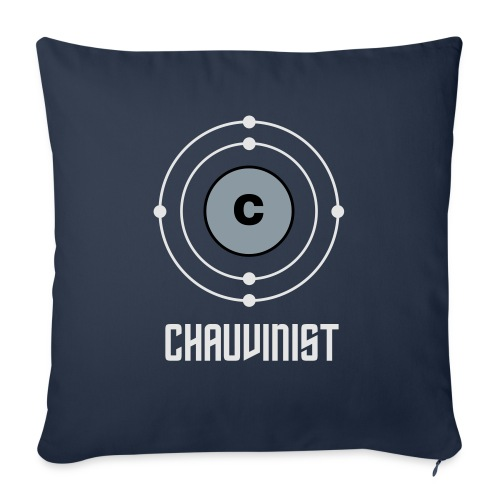 """Carbon Chauvinist Electron - Throw Pillow Cover 17.5"""" x 17.5"""""""