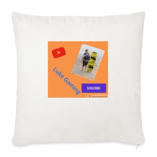 "Luke Gaming T-Shirt - Throw Pillow Cover 18"" x 18"""