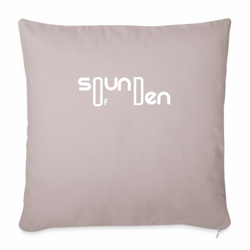 "Soundofden The white classical Logo - Throw Pillow Cover 17.5"" x 17.5"""