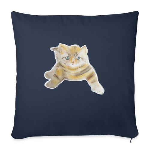 "sad boy - Throw Pillow Cover 17.5"" x 17.5"""