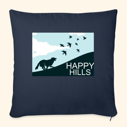 """Happy hills - Throw Pillow Cover 17.5"""" x 17.5"""""""