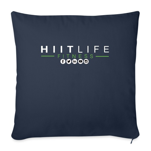 "hlfsocialwht - Throw Pillow Cover 17.5"" x 17.5"""
