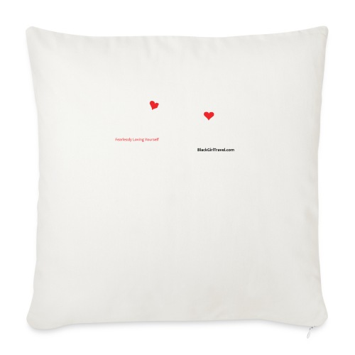 "FlyGirlTextWhite W Black png - Throw Pillow Cover 17.5"" x 17.5"""