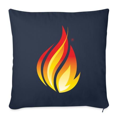 "HL7 FHIR Flame Logo - Throw Pillow Cover 17.5"" x 17.5"""