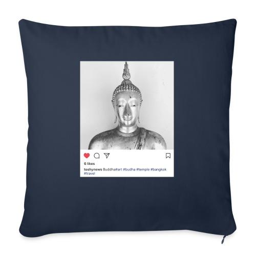 "BUDDHA - Throw Pillow Cover 17.5"" x 17.5"""