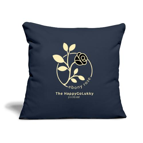 "EbonyRose - Throw Pillow Cover 17.5"" x 17.5"""