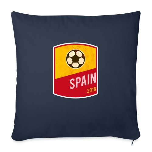 """Spain Team - World Cup - Russia 2018 - Throw Pillow Cover 17.5"""" x 17.5"""""""
