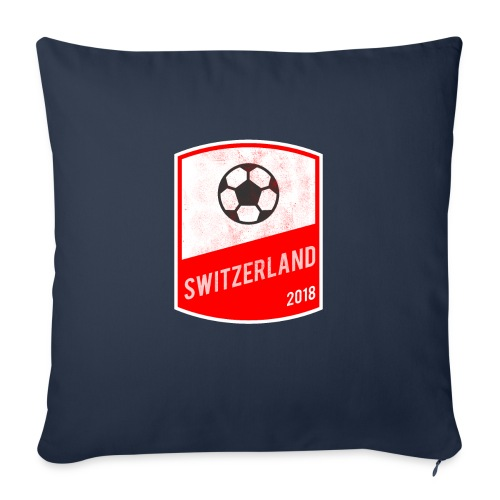 """Switzerland Team - World Cup - Russia 2018 - Throw Pillow Cover 17.5"""" x 17.5"""""""