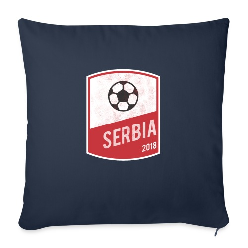 """Serbia Team - World Cup - Russia 2018 - Throw Pillow Cover 17.5"""" x 17.5"""""""