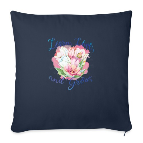 """beautiful flower message - Throw Pillow Cover 17.5"""" x 17.5"""""""