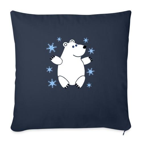 "Icebear - Throw Pillow Cover 18"" x 18"""