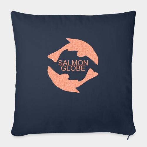 """Salmon Globe - Throw Pillow Cover 17.5"""" x 17.5"""""""