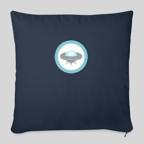 """ALIENS WITH WIGS - Small UFO - Throw Pillow Cover 18"""" x 18"""""""
