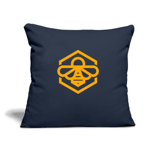 "bee symbol orange - Throw Pillow Cover 17.5"" x 17.5"""