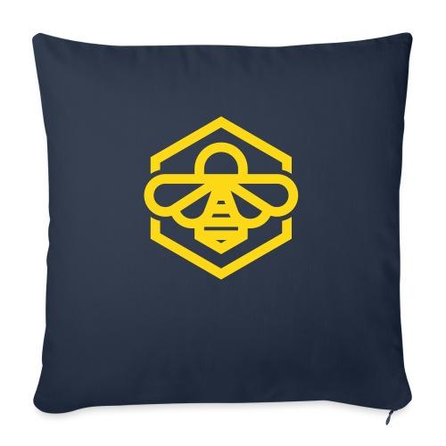 "bee symbol orange - Throw Pillow Cover 18"" x 18"""