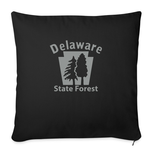 """Delaware State Forest Keystone (w/trees) - Throw Pillow Cover 18"""" x 18"""""""