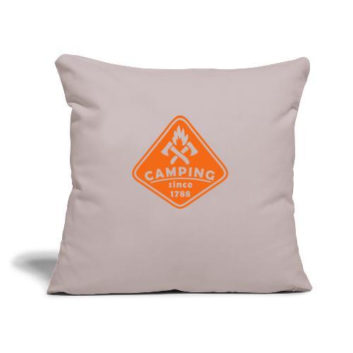 "Campfire - Throw Pillow Cover 17.5"" x 17.5"""