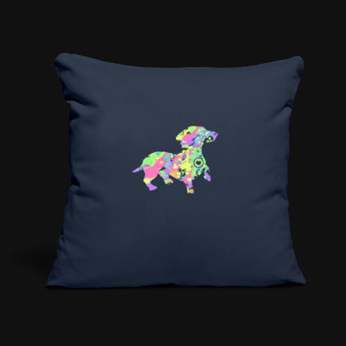 "dachshund silhouette splatter - Throw Pillow Cover 17.5"" x 17.5"""
