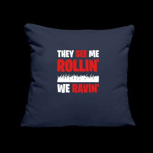 """Rollin' We Ravin' - Throw Pillow Cover 17.5"""" x 17.5"""""""
