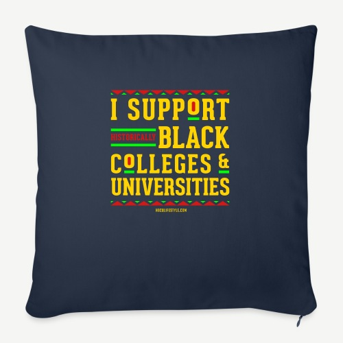 """I Support HBCUs - Throw Pillow Cover 18"""" x 18"""""""