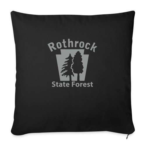 """Rothrock State Forest Keystone (w/trees) - Throw Pillow Cover 18"""" x 18"""""""