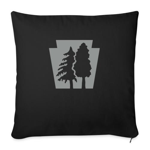 "PA Keystone w/trees - Throw Pillow Cover 18"" x 18"""