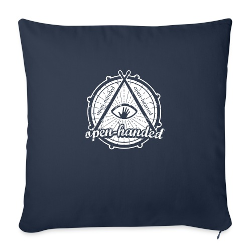 "Open-Handed - Throw Pillow Cover 18"" x 18"""