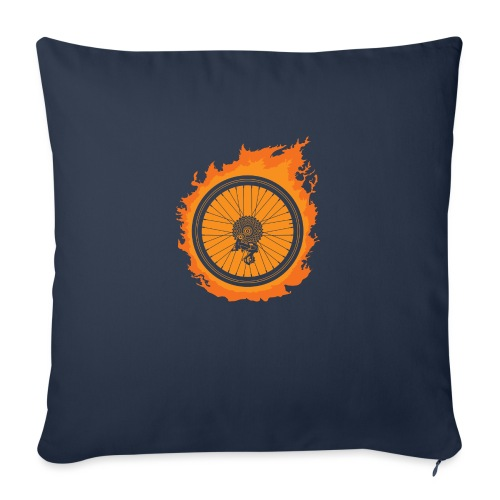 "Bike Fire - Throw Pillow Cover 18"" x 18"""