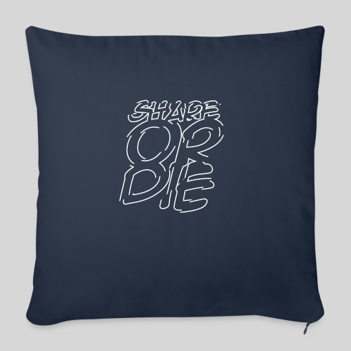 """ALIENS WITH WIGS   Share Or Die - Throw Pillow Cover 17.5"""" x 17.5"""""""