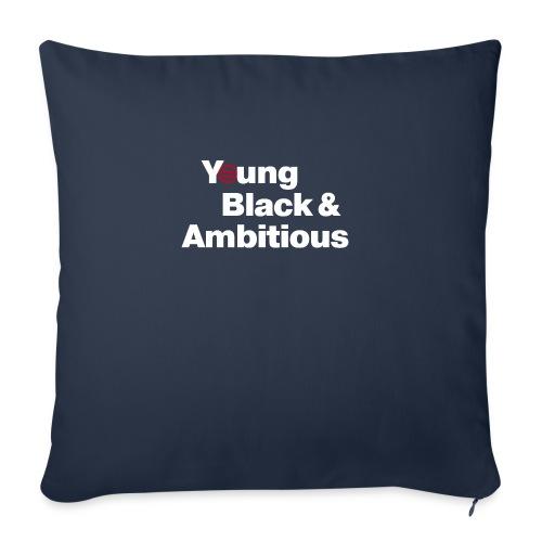 "YBA Black Shirt2 - Throw Pillow Cover 17.5"" x 17.5"""
