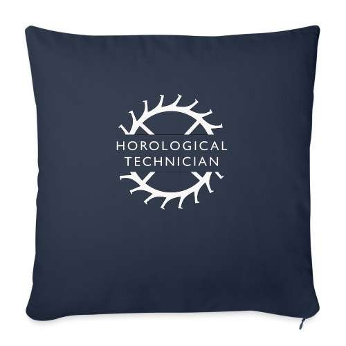 "Horological Technician - White - Throw Pillow Cover 17.5"" x 17.5"""