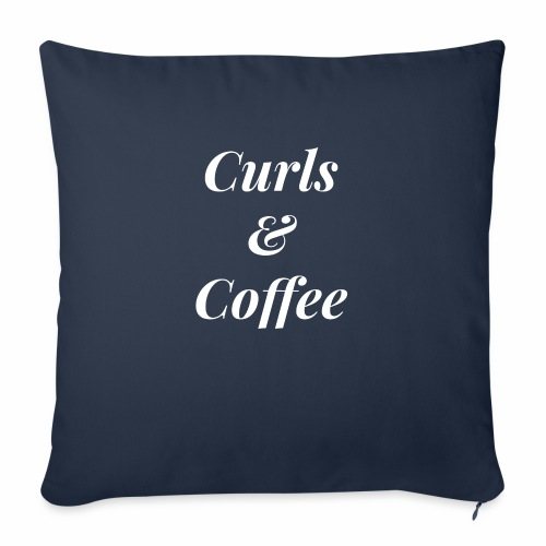 """curls and coffee - Throw Pillow Cover 17.5"""" x 17.5"""""""