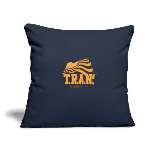 "TRAN Gold Club - Throw Pillow Cover 17.5"" x 17.5"""